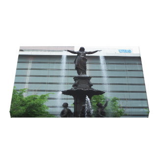 Tyler Davidson Fountain Stretched Canvas Print