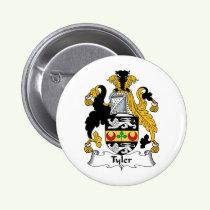 Tyler Family Crest Button