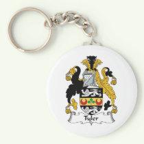 Tyler Family Crest Keychain