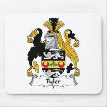 Tyler Family Crest Mousepad