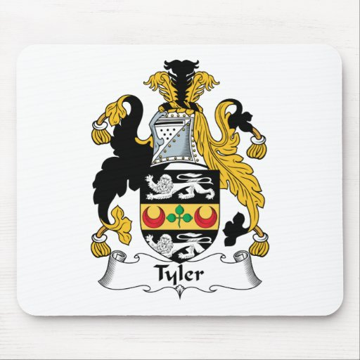Tyler Family Crest Mouse Pad