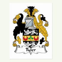 Tyler Family Crest Postcard
