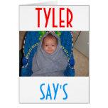 TYLER FAN CLUB CARD