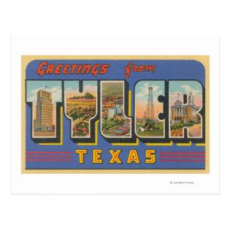 Tyler, letra ScenesTyler, TX de TexasLarge Tarjeta Postal