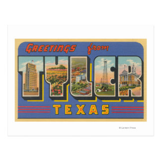 Tyler, letra ScenesTyler, TX de TexasLarge Postal