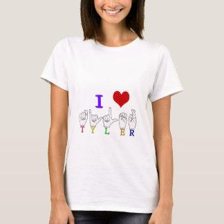 TYLER NAME FINGERSPELLED ASL SIGN T-Shirt