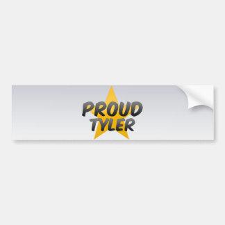 Tyler orgulloso etiqueta de parachoque