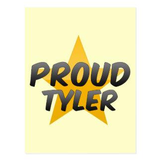 Tyler orgulloso tarjetas postales