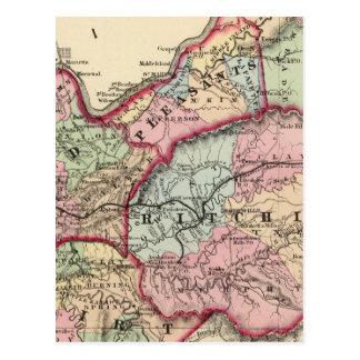 Tyler, Ritchie, Pleasants, madera, condados de Postales