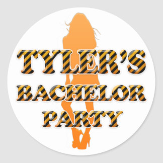 Tyler s Bachelor Party Round Sticker