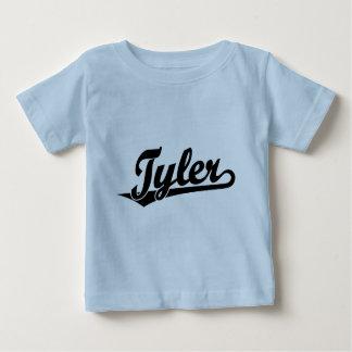 Tyler script logo in black baby T-Shirt