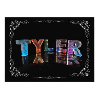 Tyler  - The Name Tyler in 3D Lights (Photograph) Photo Print