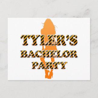 Tyler's Bachelor Party Invitation Postcard