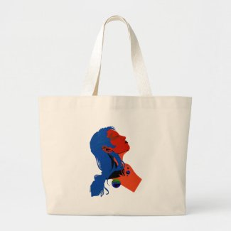 Tylt Red Large Tote Bag