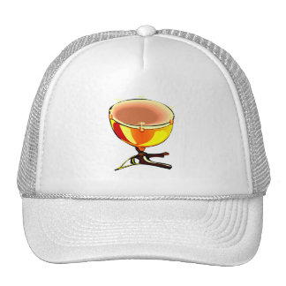 Tympani with hand tuners graphic image trucker hats