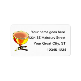 Tympani with hand tuners graphic image custom address labels