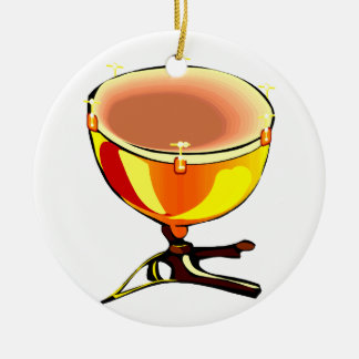 Tympani with hand tuners graphic image christmas ornament
