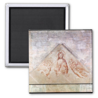 Tympanum depicting Christ the Redemptor 2 Inch Square Magnet