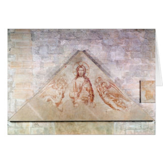 Tympanum depicting Christ the Redemptor Card
