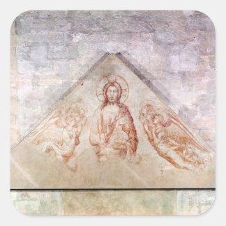 Tympanum depicting Christ the Redemptor Square Sticker
