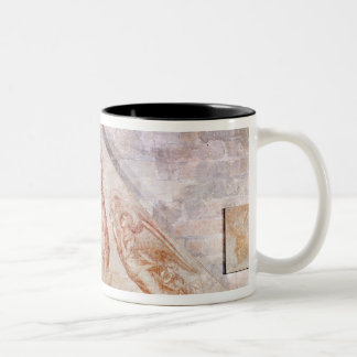 Tympanum depicting Christ the Redemptor Two-Tone Coffee Mug