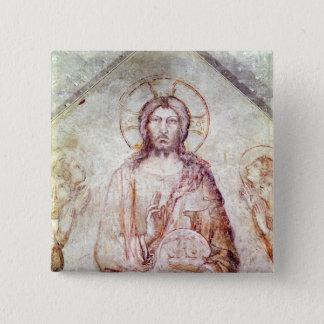 Tympanum depicting the Saviour Blessing, 1341 Button