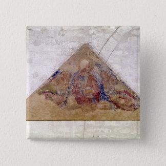 Tympanum depicting the Saviour Blessing, 1341 Pinback Button