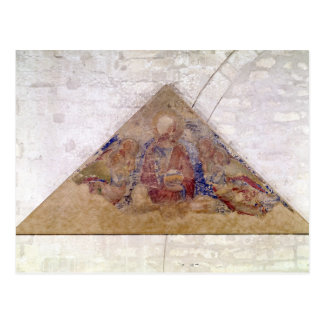 Tympanum depicting the Saviour Blessing, 1341 Postcard