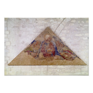 Tympanum depicting the Saviour Blessing, 1341 Poster
