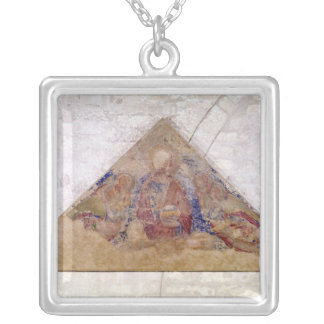 Tympanum depicting the Saviour Blessing, 1341 Silver Plated Necklace