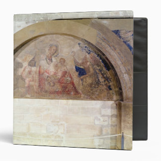 Tympanum depicting the Virgin of Humility 3 Ring Binder