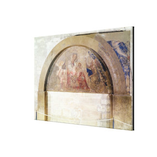 Tympanum depicting the Virgin of Humility Canvas Print