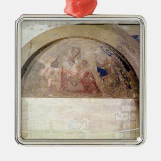 Tympanum depicting the Virgin of Humility Metal Ornament