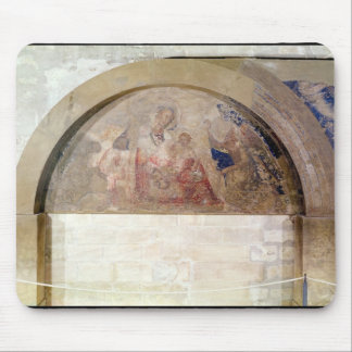 Tympanum depicting the Virgin of Humility Mouse Pad