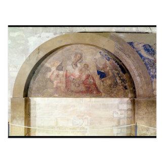 Tympanum depicting the Virgin of Humility Postcard