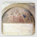 Tympanum depicting the Virgin of Humility Square Stickers