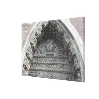 Tympanum from the left portal canvas print