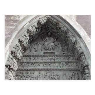 Tympanum from the left portal postcard