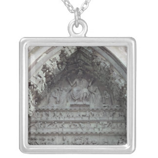 Tympanum from the left portal silver plated necklace