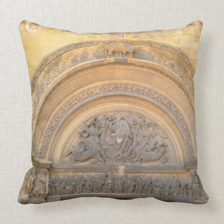 Tympanum of the porch depicting Christ in Majesty Pillow