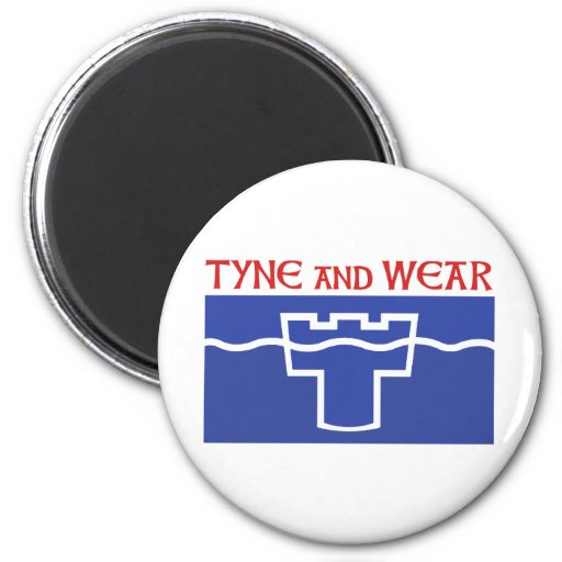 Tyne and Wear 2 Inch Round Magnet
