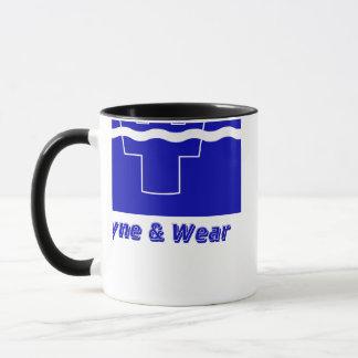 Tyne and Wear Flag with Name Mug