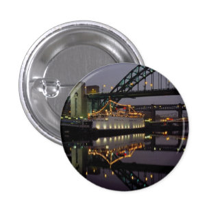 Tyne Bridge and Tuxedo Royale floating night club Button