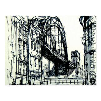 Tyne Bridge Dene Street Postcard