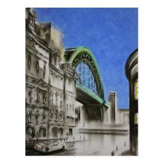 Tyne Bridge, England Postcard