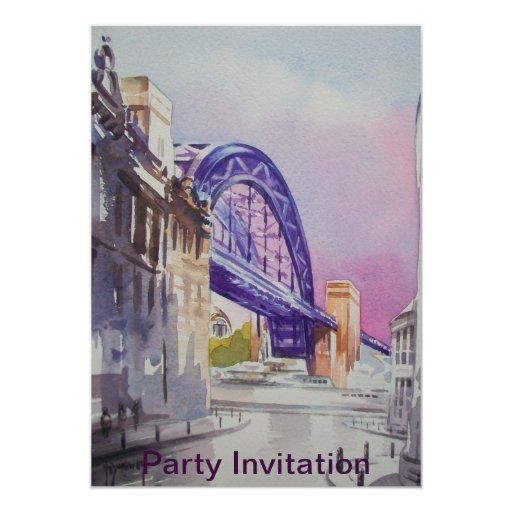 Tyne Bridge from Dean Street Party Invitation