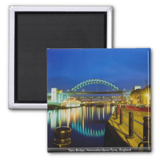Tyne Bridge, Newcastle-Upon-Tyne, England 2 Inch Square Magnet