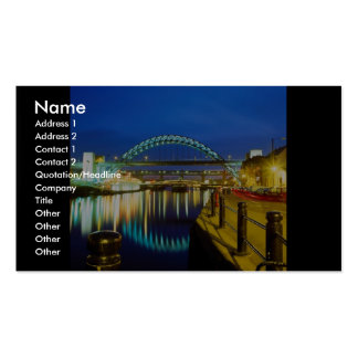 Tyne Bridge, Newcastle-Upon-Tyne, England Double-Sided Standard Business Cards (Pack Of 100)