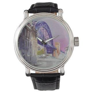 Tyne Bridge Vintage Leather Strap Watch