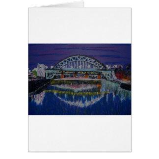 Tyne Bridges at night Greeting Card